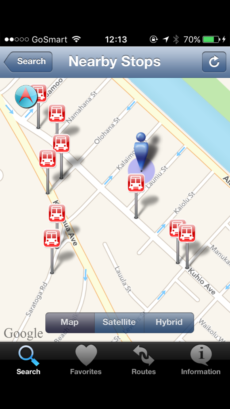 Find Nearby Bus Stops