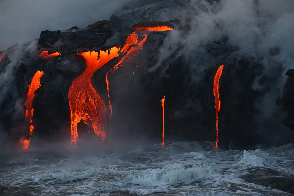 キラウエア火山噴火時