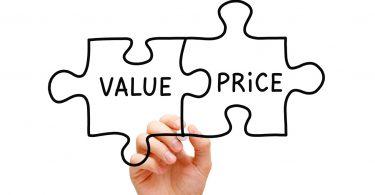 Value Price Puzzle Concept