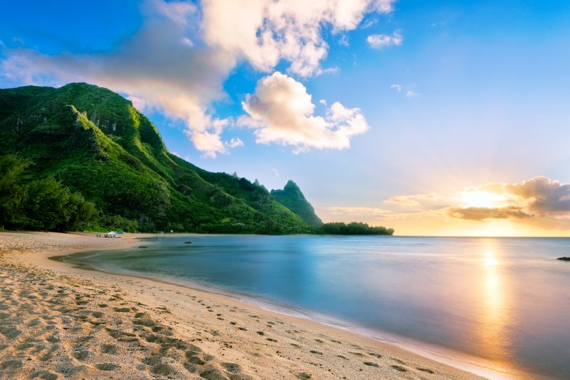 Bali Hai from Tunnels Beach, Kauai, Hawaii