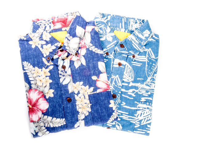 Two Men's Hawaiian Shirts