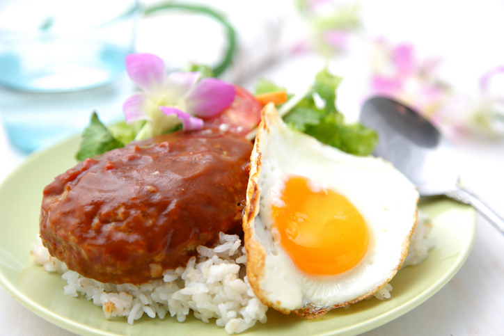 The Loco Moco is a typical local food of Hawaii.