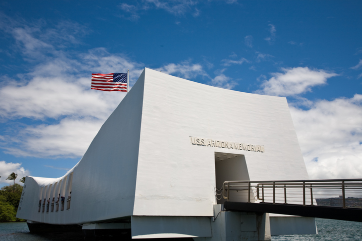 U.S.S. Arizona Memorial in Pearl Harbor, Hawaii.