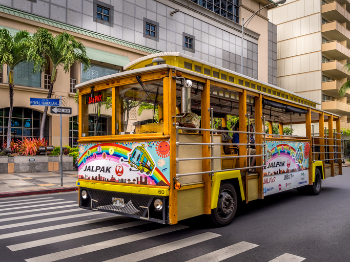 Waikiki Trolley bus