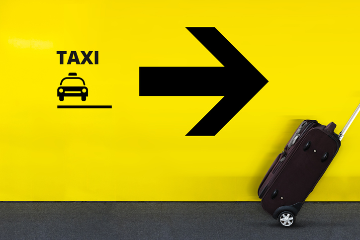Airport Sign With Taxi Icon