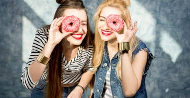 Women with donuts