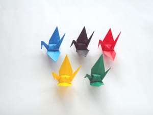 Paper Crane - Facing Left - 5 Color Origami