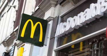 McDonald's restaurant logo in Amsterdam