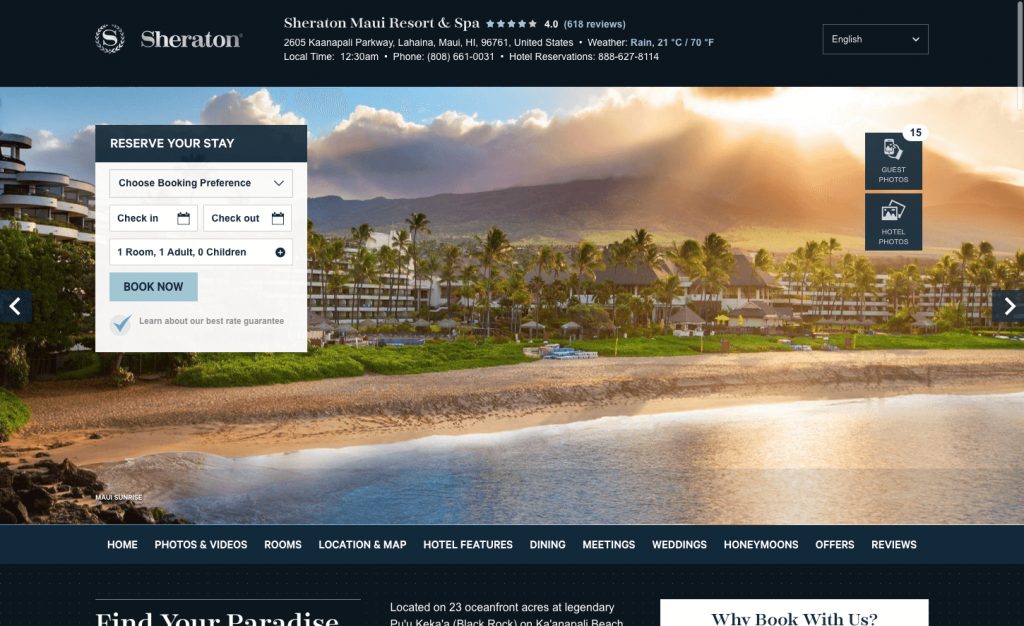 Sheraton Maui Resort Spa