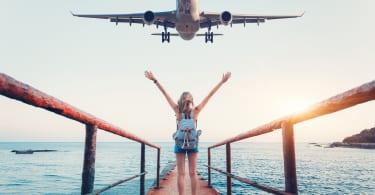 飛行機 女性