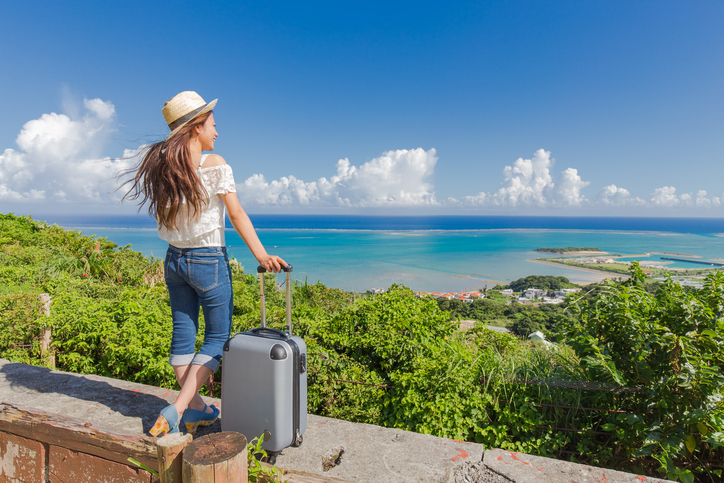 Young woman to travel Okinawa