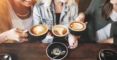 Women Friends Enjoyment Coffee Times Concept