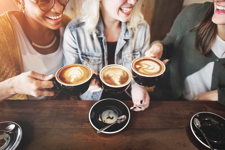 Women Friends Enjoyment Coffee Times Concept