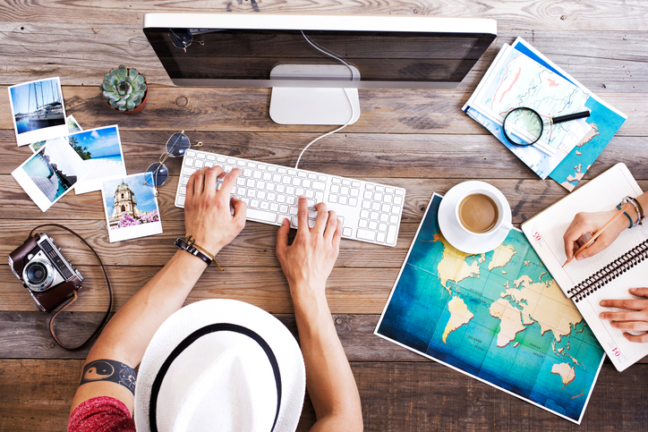 Travel planning on computer
